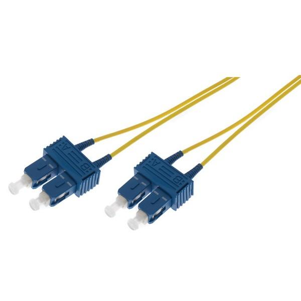 Fibre Patch Lead Duplex SM SC-SC OS2 LSZH 3 Metre