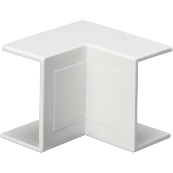 Trunking Mini Internal Angle PVC White (H) 16mm x (D) 16mm