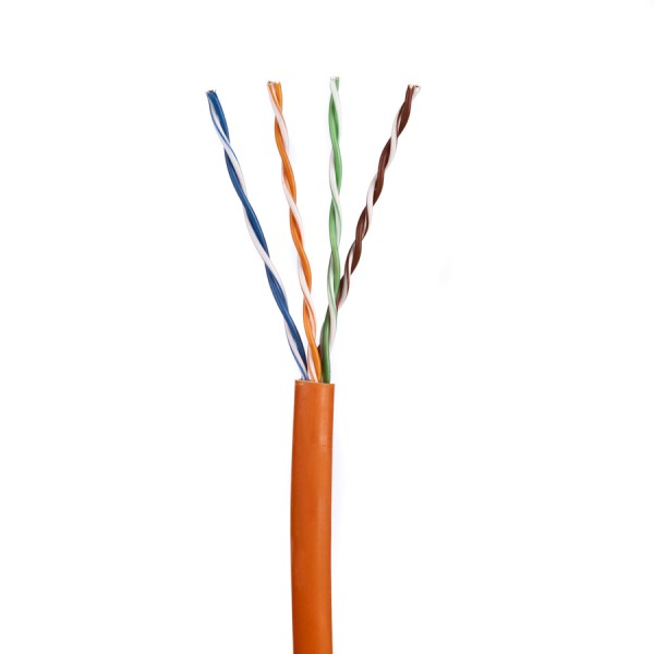 Cat5E Data Cable Solid U/UTP LSZH 4 Pair Orange 305m