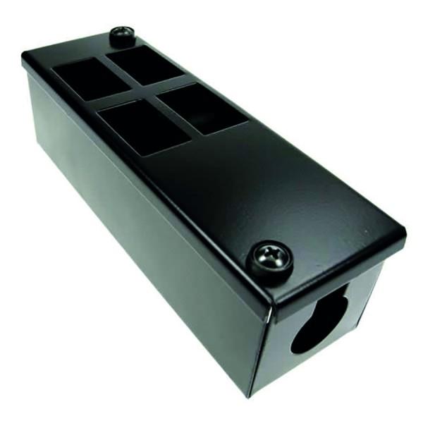 Pod Box Vertical LJ6C 4 Port 2×2 (W) 60mm x (D) 55mm x (L) 190mm Entry Gland 25mm