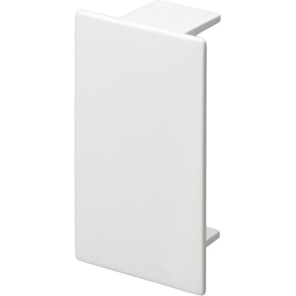 Trunking Midi End Cap PVC White (H) 50mm x (D) 50mm