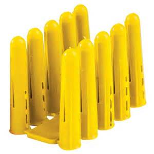 Plastic Wall Plug Solid Wall Yellow