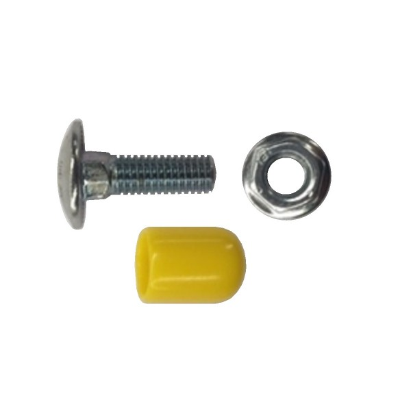 Fibre Ducting Coach Bolt and Flange Nut with Nut Cap F-CBNK-20 + F-FCM10-Y(100)