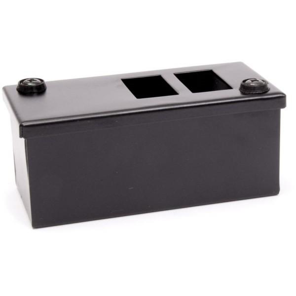 LJ6C Pod Box Horizontal 2 Port 1×2 Black (W) 60mm x (D) 55mm x (L )140mm Entry Gland 20mm