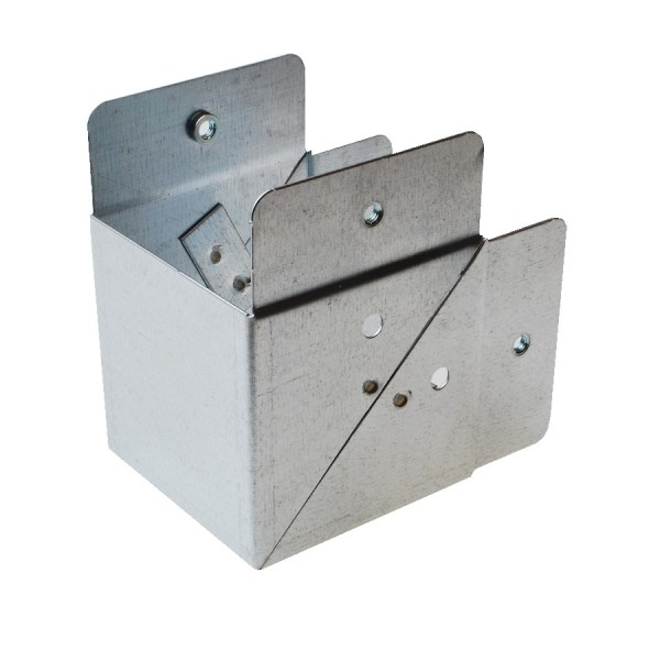Trunking Square Bend Internal (No Lid) Pre-Galvanised 90 Degree ASBI44 (H) 100mm x (W) 100mm