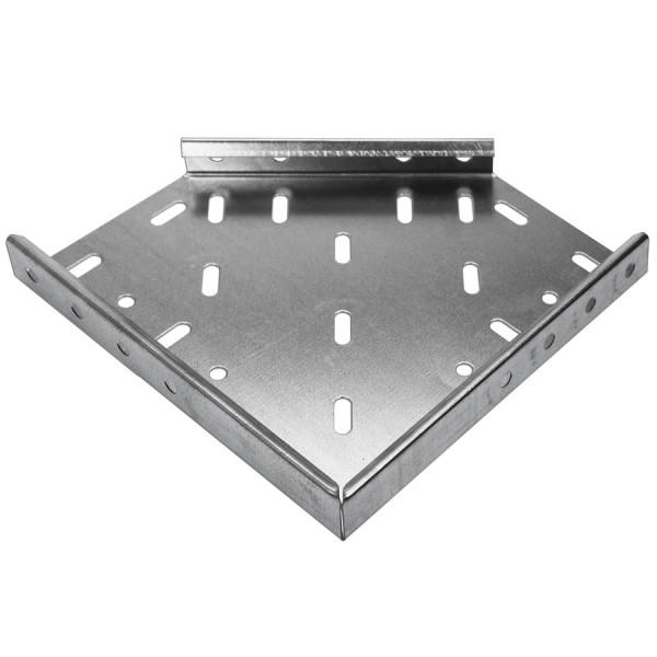 Cable Tray Flat Bend Medium Duty Pre-Galvanised 90 Degree AMDB4 (W) 100mm x (D) 25mm