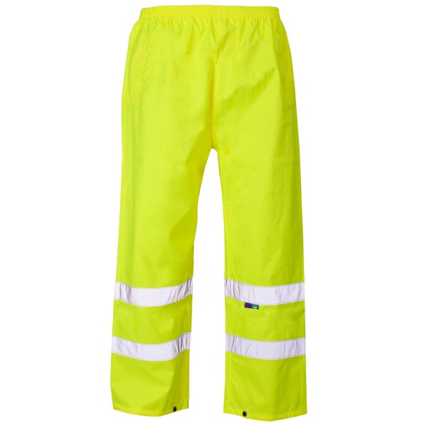 Hi-Viz Waterproof Trousers Large Yellow