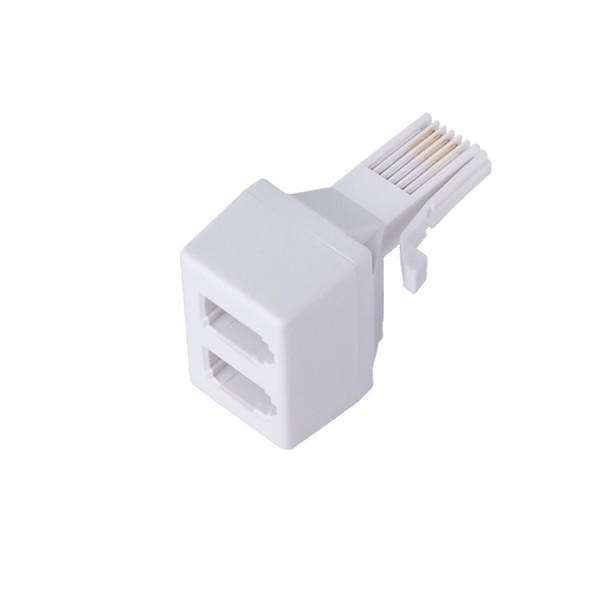 Line Jack Doubler 431A Plug – 2x 431A Socket 4 Wire White
