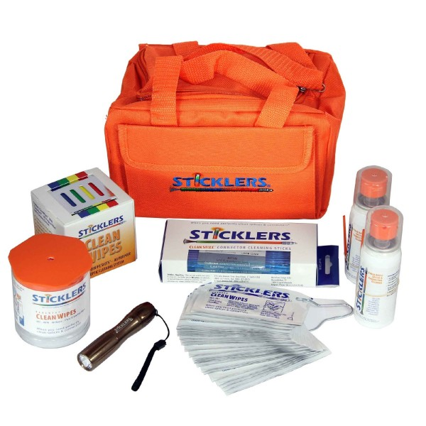 Sticklers Standard Fibre Optic Cleaning Kit 800+ MCC-FK03 Orange