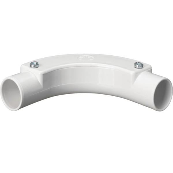 Conduit Inspection Bend PVC White (Dia) 25mm