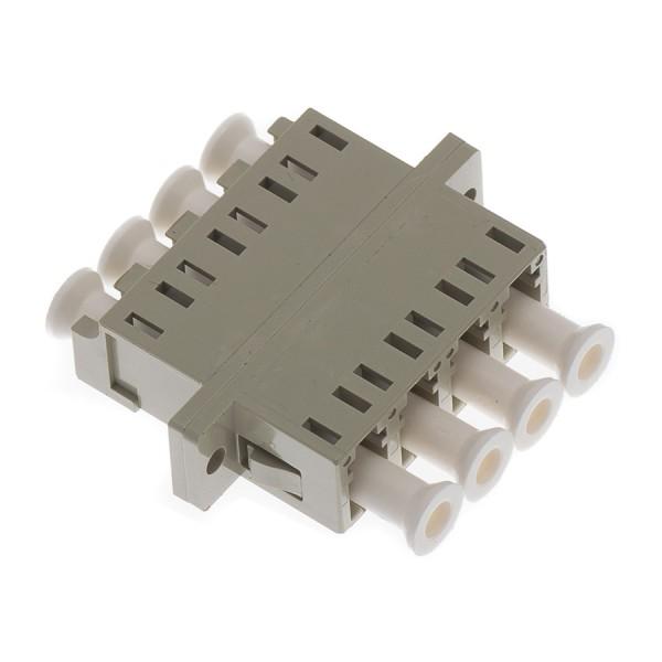 Fibre Optic Adaptor LC Quad MM Ceramic Beige