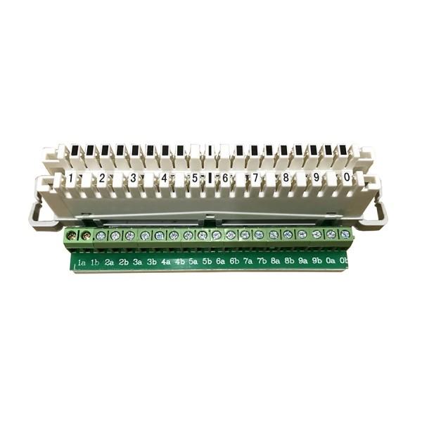Strips Disconnection 10 Pair IDC/Screw White