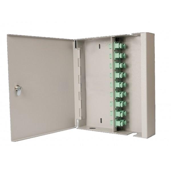 Fibre Optic Breakout Box Lockable 24 Way SM LC Simplex Loaded
