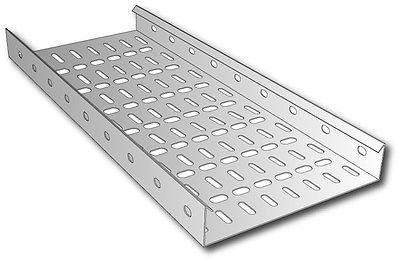 Cable Tray Medium Duty Pre-Galvanised TUMLT100/10PG (W)100mm x (D) 25mm x (L) 3m