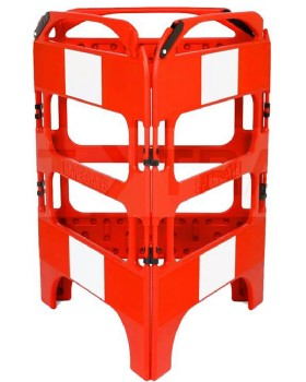 SafeGate Panel Barrier System 3 Gate Plastic Red/White