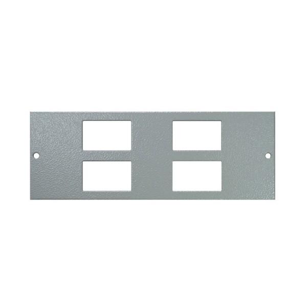 Floor Box Faceplate 4x LJ6C (For 4 Way) Grey (H) 68mm x (L) 185mm