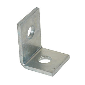 Channel Bracket Angled 90 Degree Stainless Steel 1+1 Hole P1068SS (W) 41mm x (D) 57mm