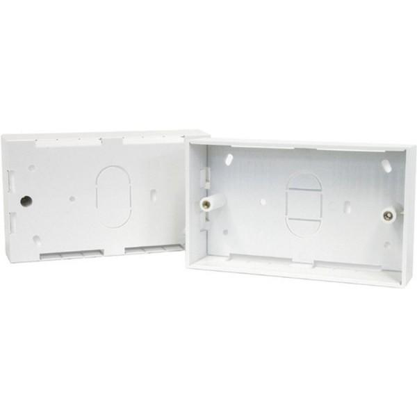 Backbox Double Gang White (D) 32mm