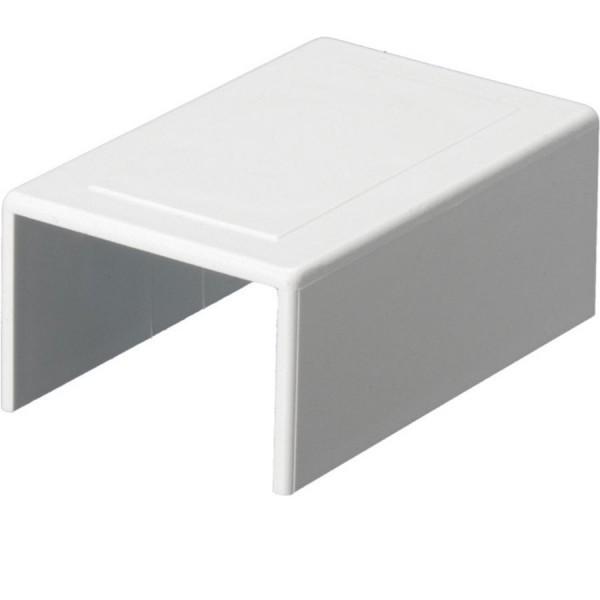 Trunking Mini External Coupling PVC White (H) 16mm x (D) 16mm