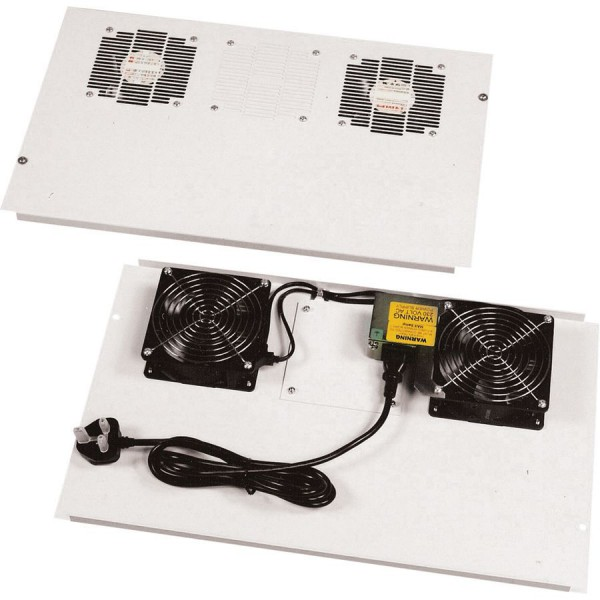Fan Tray Roof Mounted 2 Way with space for 3rd A8FTL Grey (W) 800mm