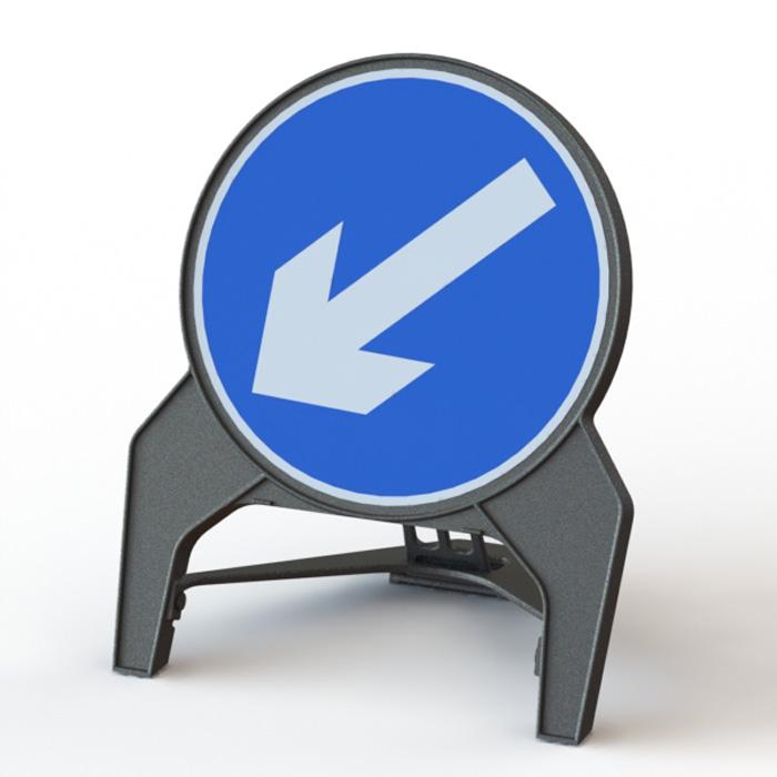 Q' Sign Keep Left