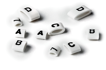 HO85 Oval Grip Markers Black on White 'E'