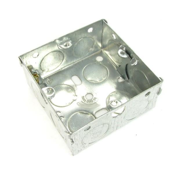 Pattress Box Single Gang Steel Flush Mount (D) 35mm NX-BB-011