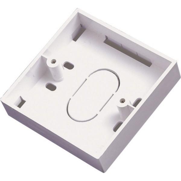 Backbox Single Gang White (D) 44mm