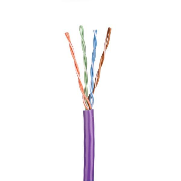Cat5E Data Cable Solid U/UTP LSZH 4 Pair Violet 305m
