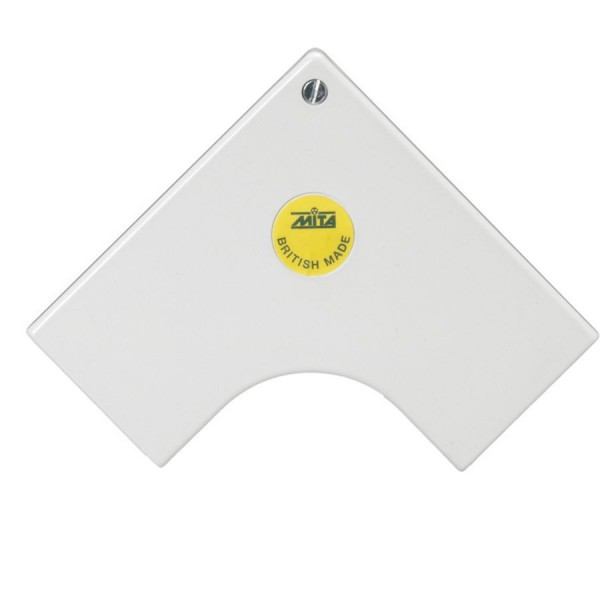 Trunking Maxi Flat Angle Moulded PVC TRK – Heavy Duty White (H) 50mm x (D) 50mm