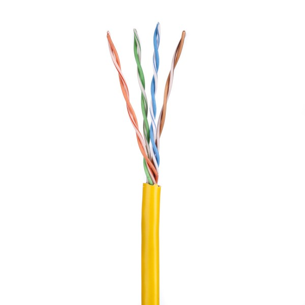 Cat5E Data Cable Solid U/UTP LSZH 4 Pair Yellow305m