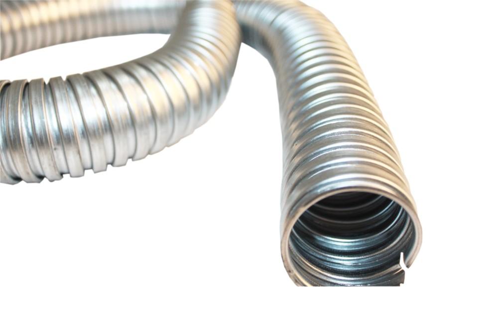 Galv Steel Conduit FU Flexible Corrugated LSZH (L) 10m (Dia) 20mm