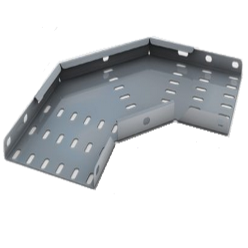 Cable Tray Flat Bend Medium Duty 90 Degree Pre-Galvanised TUMB150/90PG (W) 150mm x (D) 25mm