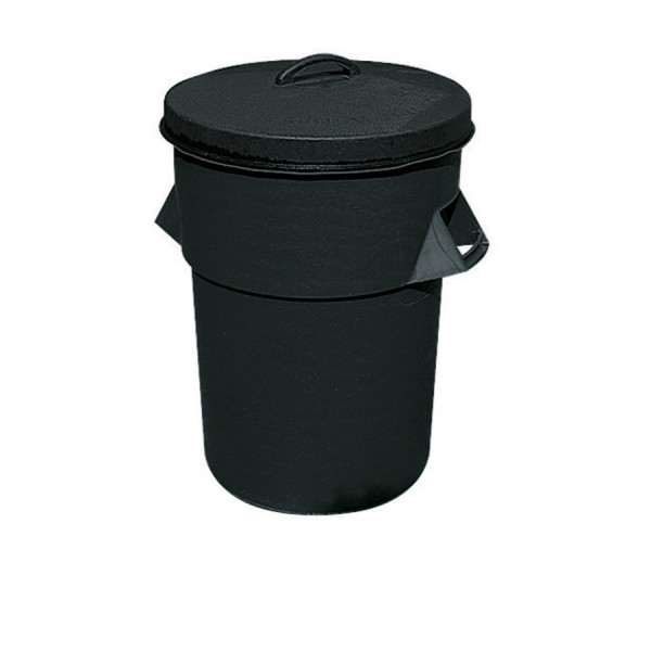 Plastic Dustbin Heavy Duty Black Capacity 90ltr