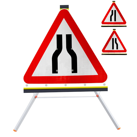 Sign Roll-up 750mm Road Narrows Left/Right