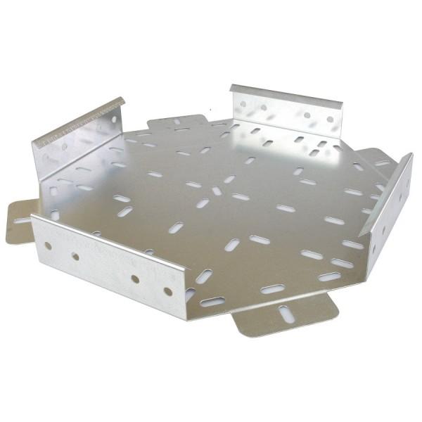 Cable Tray Flat Equal Cross Medium Duty Pre-Galvanised AMDN4 (W) 100mm x (D) 25mm