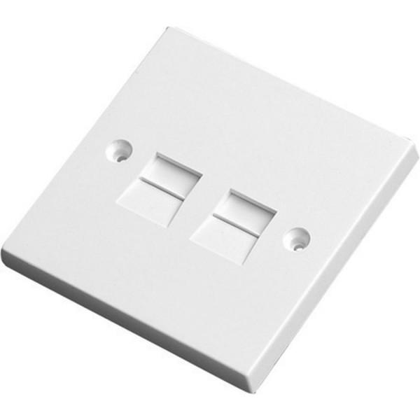 Line Jack 5/3A Secondary IDC White (H)85mm x (W)85mm x (D)8mm