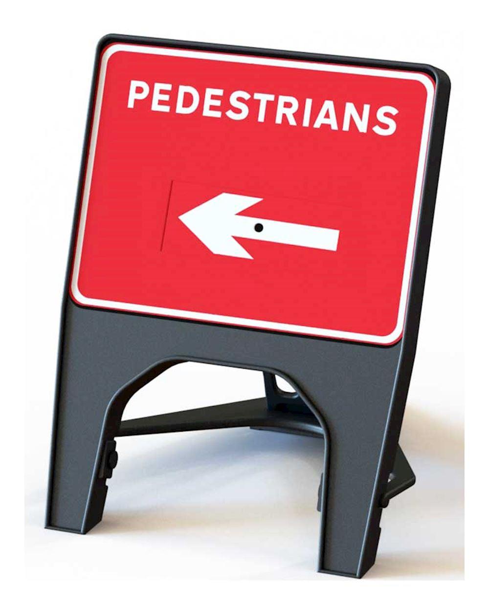 Q' Sign Pedestrian Arrow Left
