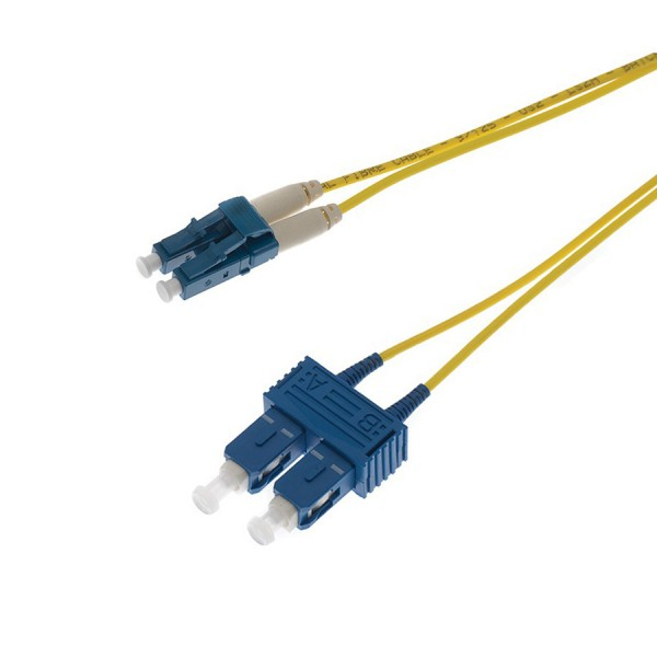 Fibre Patch Lead Duplex SM LC-SC OS2 LSZH 20 Metre