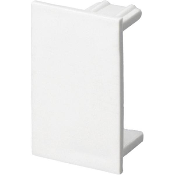 Trunking Mini End Cap PVC White (H) 38mm x (D) 16mm