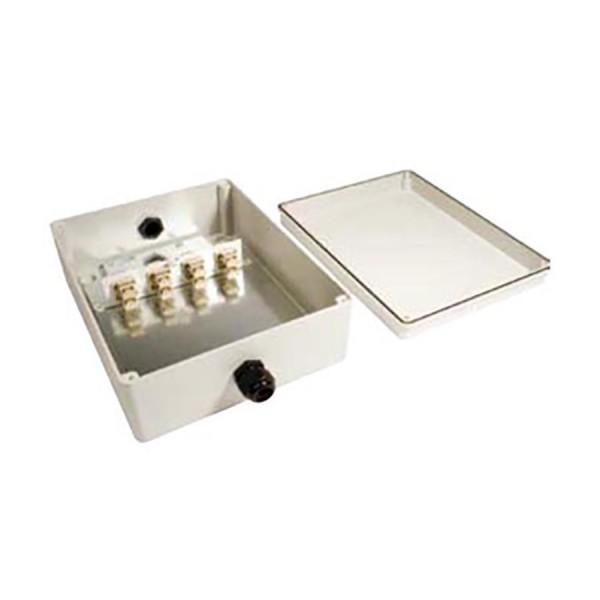 Fibre Optic Breakout Box IP56 32 Way SM LC 8 x Quad Breakout Box Grey