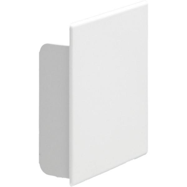 Trunking Maxi End Cap PVC TRK – Heavy Duty White (H) 75mm x (D) 50mm