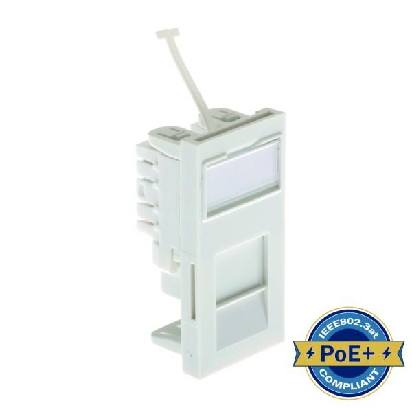 Cat5E PCB Module Low Profile Euro Unshielded White