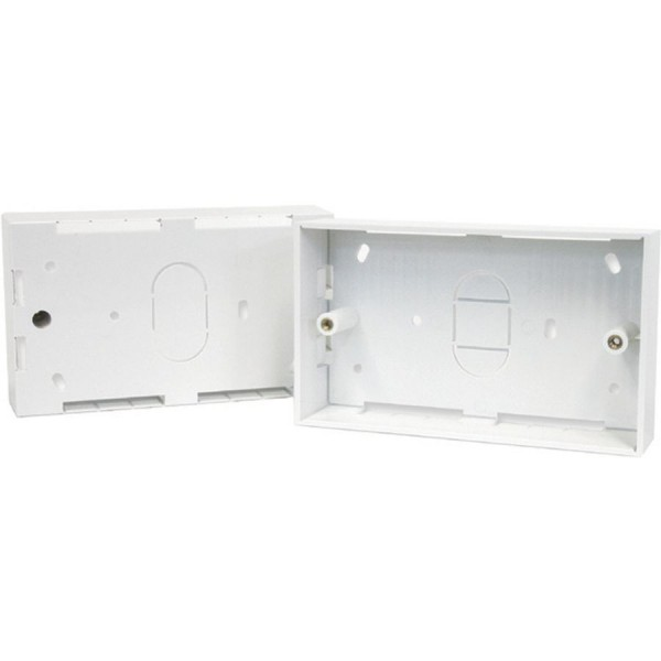 Back Box Surface Mount Double 44mm
