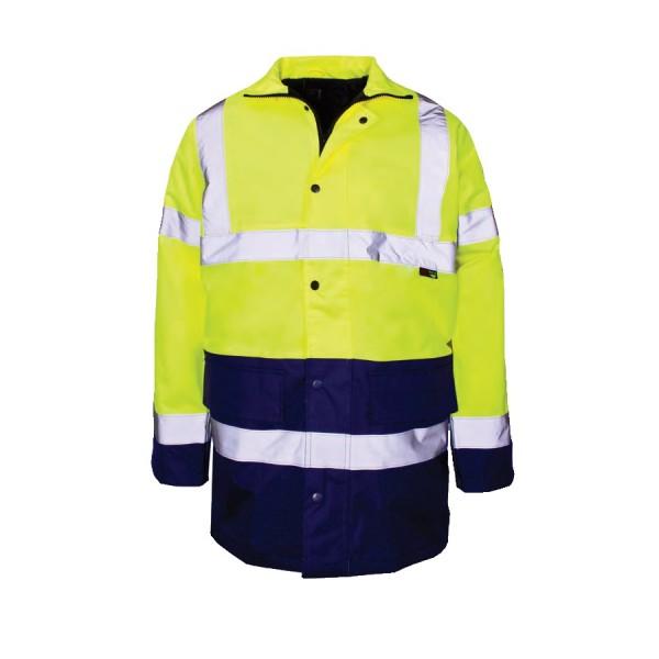 Hi-Viz Jacket Large 100-108cm Yellow/Navy