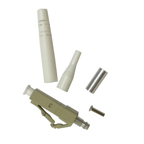 Epoxy & Polish Fibre Optic Connector Simplex MM LC Ceramic Beige 3mm & 900 Microns