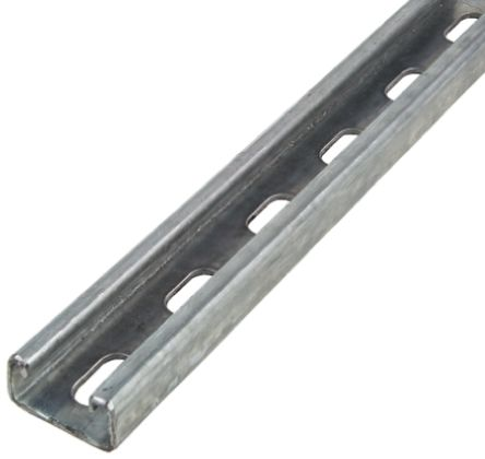 Channel Support Slotted Hot Dip Galvanised Steel M12 Slot P1000THX3 (W) 41mm x (D) 41mm x (L) 3m