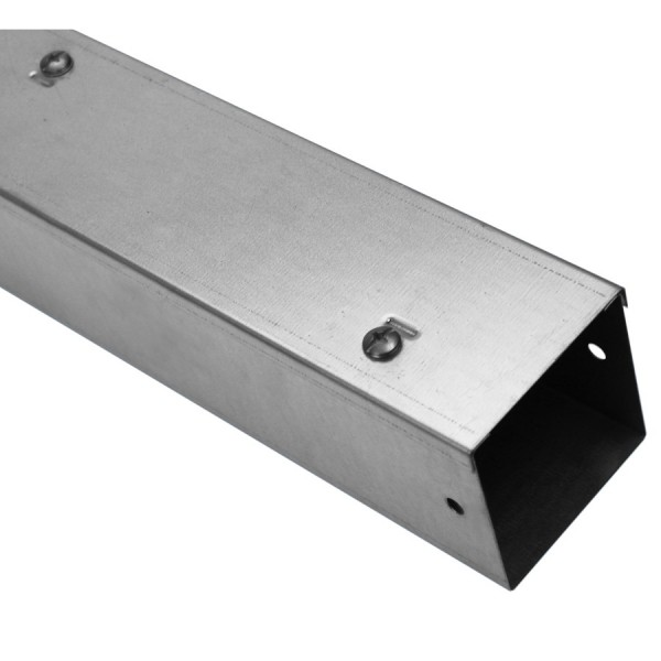 Trunking Single Compartment Pre-Galvanised AGT44 (H) 100mm x (W) 100mm x (L) 3m