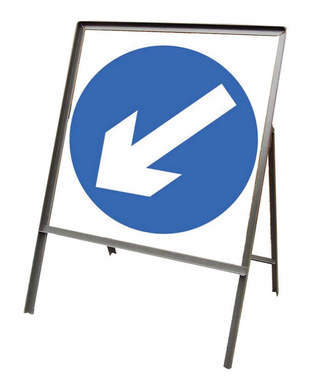 Sign Metal 750mm Keep Left