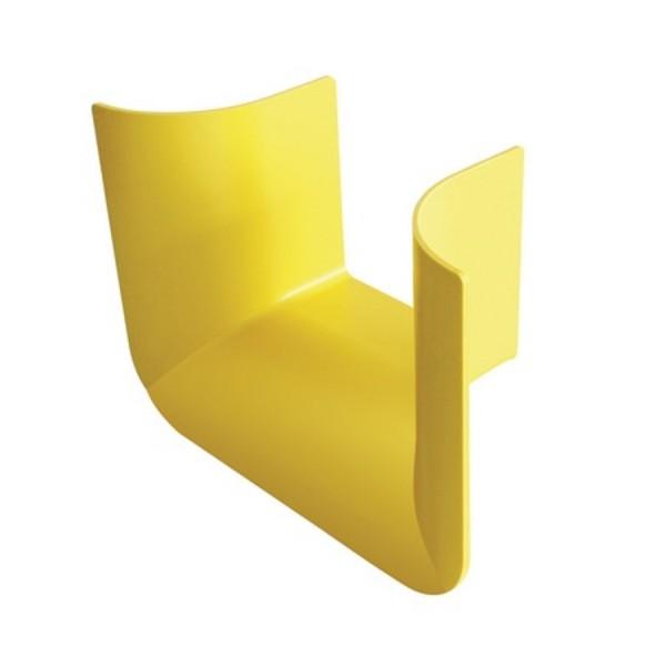 Fibre Ducting Trumpet Plastic LSZH Yellow (H) 100mm x (W) 100mm